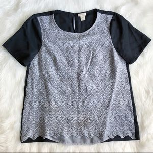 J.Crew Factory • Grey lace Tee